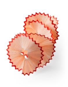 spiral of pencil shavings